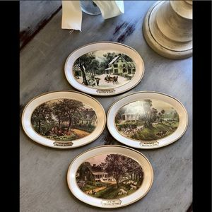Vintage Currier and Ives Seasons Tins 1868